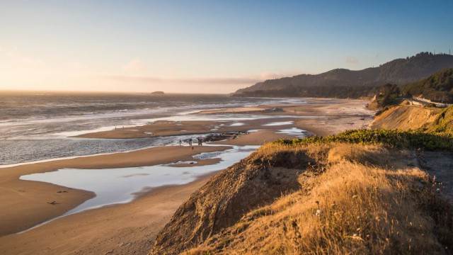 Ocean coastline in Oregon