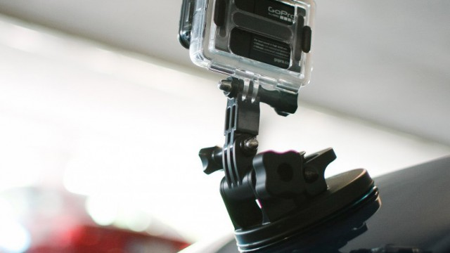 Go pro suction cup mount on car