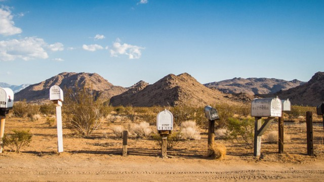 Mailboxes on the way to grand canyon