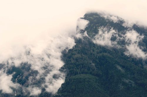 Hidden mountains in the clouds